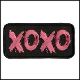 Hot Leather Patch XOXO 4in
