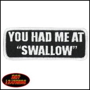 Hot Leather Patch You Had Me At Swallow 4in