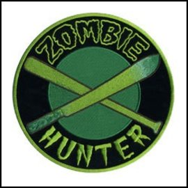Hot Leather Patch Zombie Hunter 3in