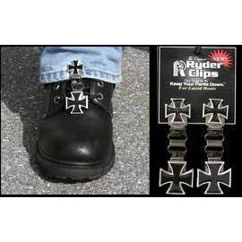Ryder Clips Boot Clip Laced Maltese Cross
