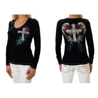 Liberty Wear Shirt LS Antique Cross & Wings