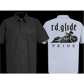 Nasty Baggers Work Shirt Road Glide Pride Charcoal