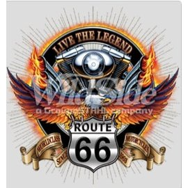 Route 66 Biker Gear Shirt Live the Legend Route 66