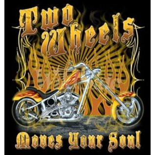 Route 66 Biker Gear Shirt Two Wheels Move the Soul
