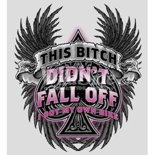 Route 66 Biker Gear Shirt This Bitch Didn't Fall Off