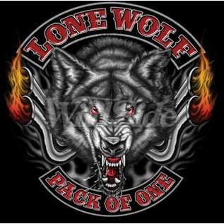Route 66 Biker Gear Shirt Lone Wolf