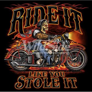 Route 66 Biker Gear Shirt Ride It Stole It Devil