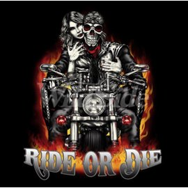 Route 66 Biker Gear Shirt Ride or Die Couple