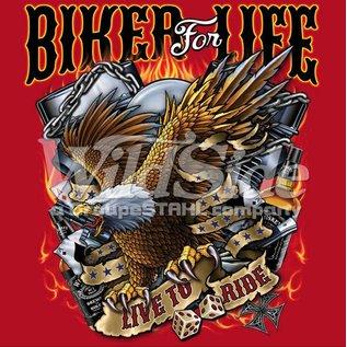 Route 66 Biker Gear Shirt Biker for Life Eagle