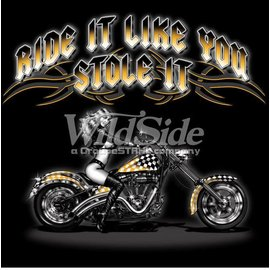 Route 66 Biker Gear Shirt Ride It Stole It Babe