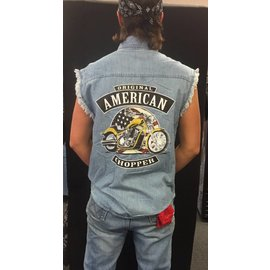 Route 66 Biker Gear Sleeveless Denim American Chopper
