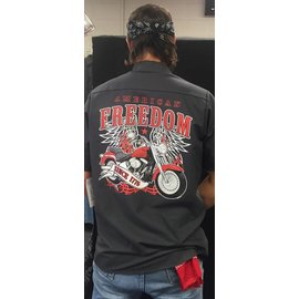 Route 66 Biker Gear Work Shirt American Freedom