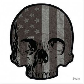 Patch Stop Patch Flag Half Skull 5 in