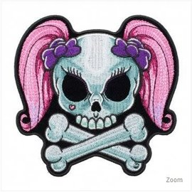 Patch Stop Patch Babydoll Girly Skull 5 in