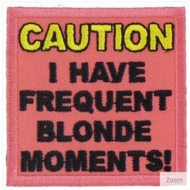 Patch Stop Patch Caution Blonde Moments 2in