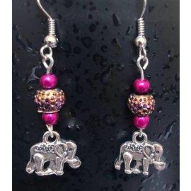 Route 66 Biker Gear Earring Elephant
