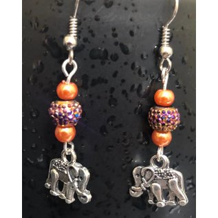 Route 66 Biker Gear Earring Elephant