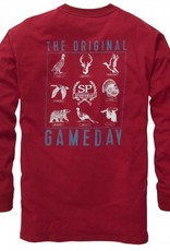 Southern Proper Southern Proper Original Gameday Tee: Rhubarb Long Sleeve