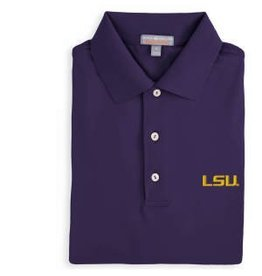 Peter Millar Peter Millar Cotton Lisle Polo W/ LSU
