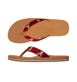 Smathers & Branson University of Alabama Needlepoint Flip Flops