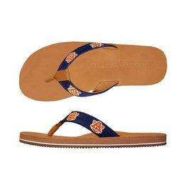 Smathers & Branson Auburn Needlepoint Flip Flops