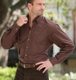 Scott Barber Burnt Orange, Black and Grey Plaid