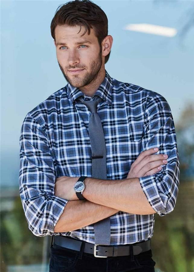 Scott Barber Melange Plaid Shirt