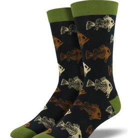 Sock Smith Sock Smith Bamboo Fish 'N Bones Socks