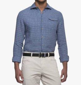 Johnnie-O Johnnie-O Cohen Cutaway Collar Linen Shirt