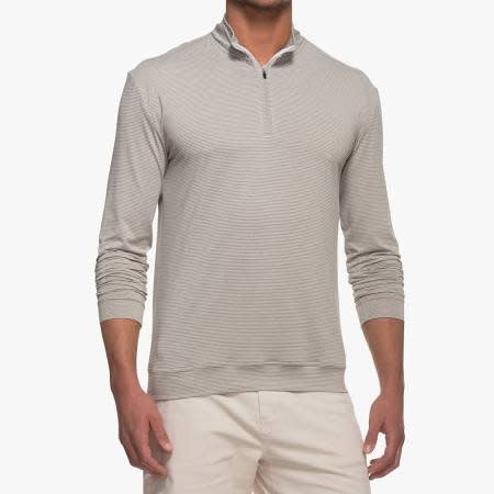 Johnnie-O Johnnie-O Striped Flex PREP-FORMANCE 1/4 Zip Pullover