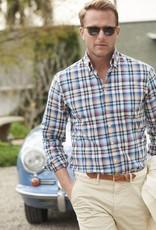 Scott Barber Chelsea Plain Weave Multi-Colored Check Shirt