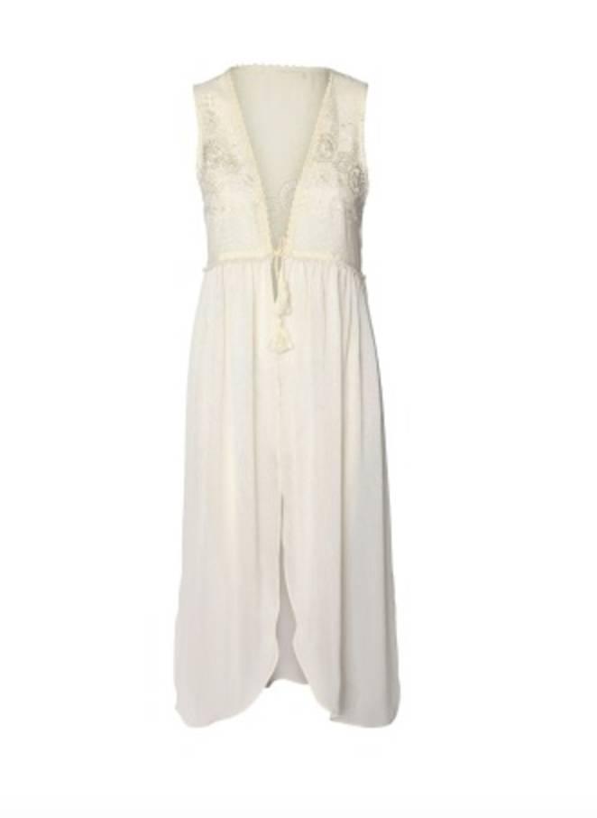 DEX DEX White Lace Detail Cardigan