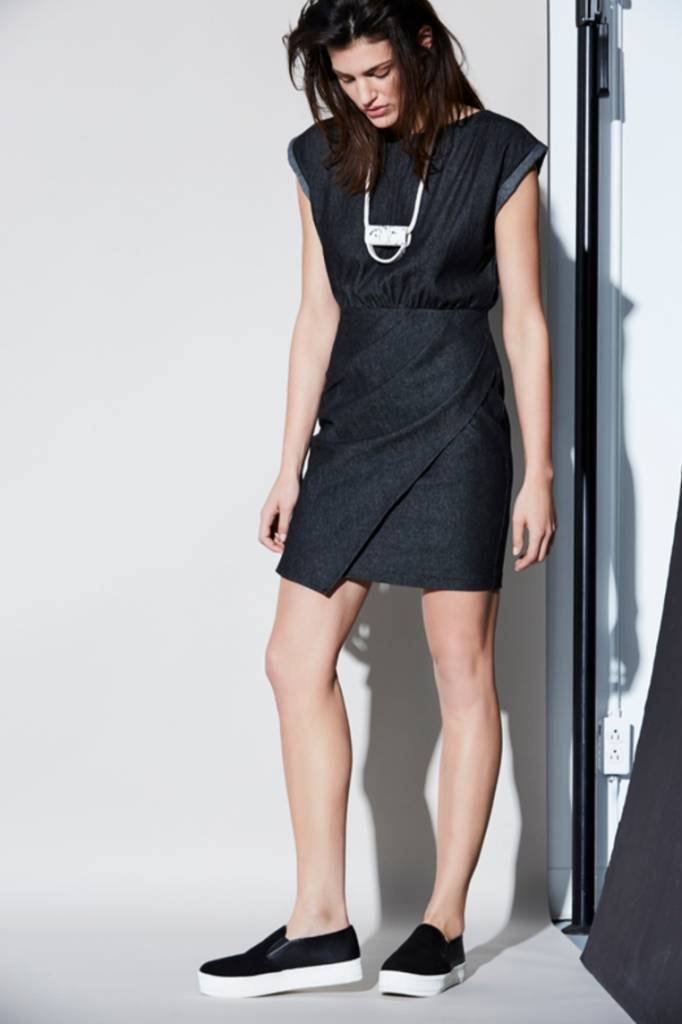Eve Gravel Eve Gravel black denim dress