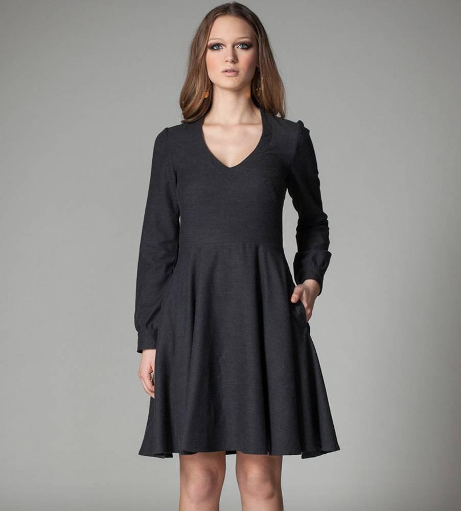 Jennifer Glasgow Palau Long Sleeve Pocket Dress  Jennifer Glasgow - Charcoal