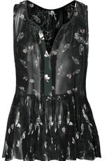 DEX DEX Feather/Floral Cami Peplum Shirt