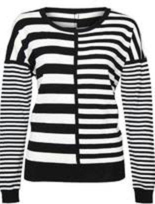 DEX DEX Black/White Multi Stripe Sweater