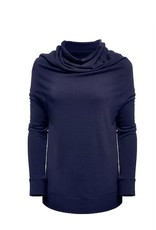 Melow by Melissa Bolduc MELOW Indigo Loose Top Draped Neckline