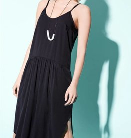 Eve Gravel Eve Gravel Black Camisole Dress - Relaxed Fit