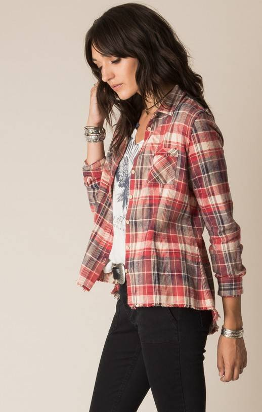 White Crow Canyon Flannel Shirt (Chilli Pepper)