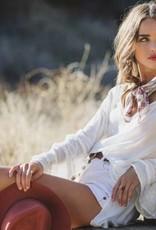 Bell Sleeve Boho Top (White)