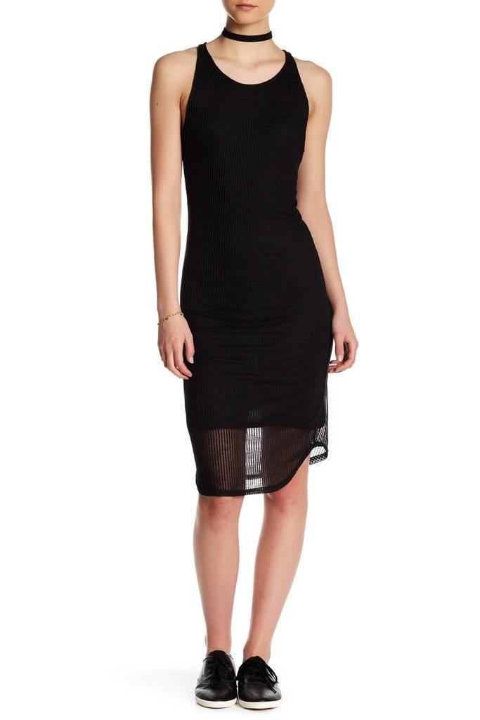 DEX DEX Slv/less Black Bodycon Dress