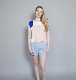 Eve Gravel Eve Gravel - Sleeveless Top w/ Colour Block Panels