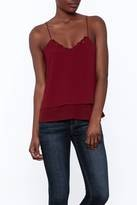 DEX DEX Red Double Layer Cami w/ Lace