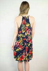 Lakefield Lakefield + co. Floral Key Hole Fit + Flare Dress