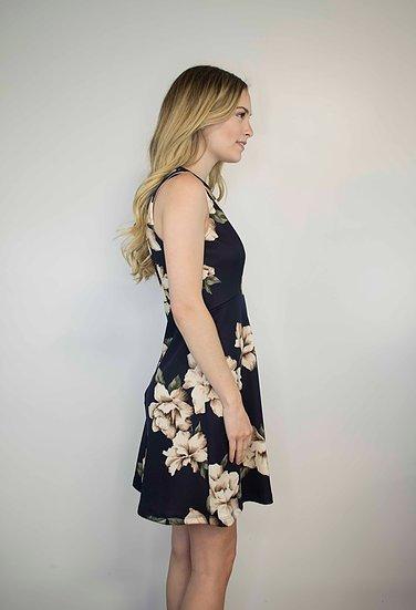 Lakefield Lakefield + Co. 'Harper' Navy + Floral Dress