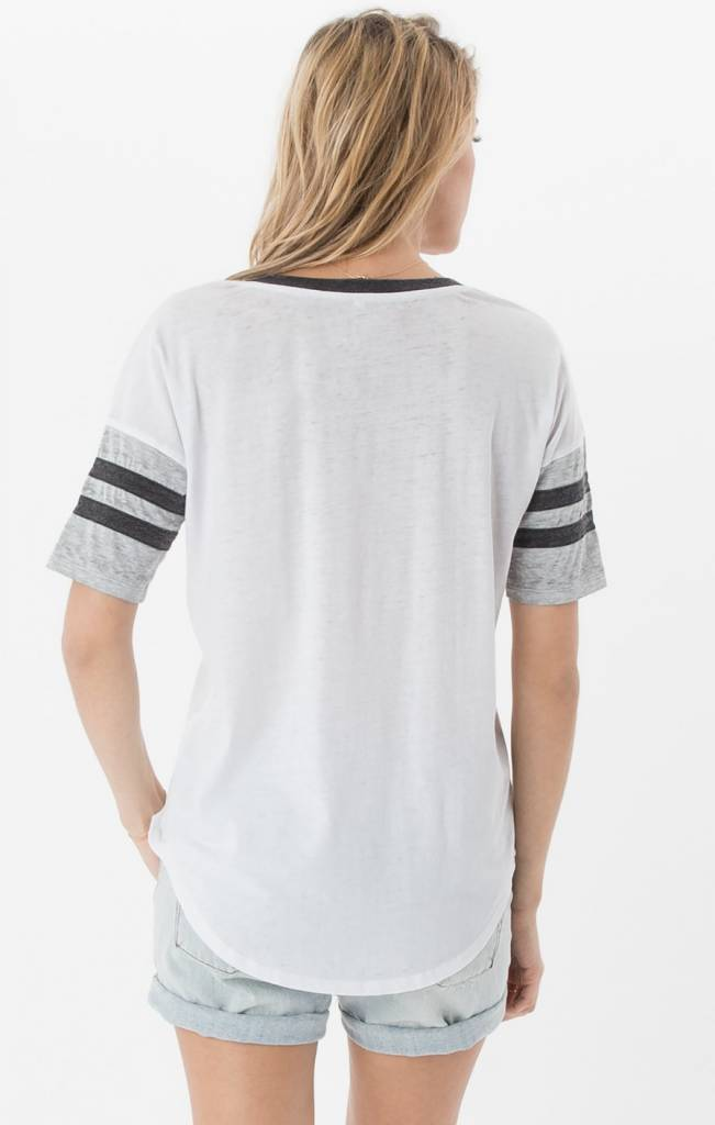 Z Supply Z SUPPLY White/Grey The Outfielder Tee