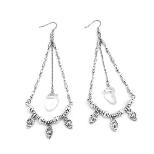 Well Dunn Well Dunn Chandelier Earrings w/ quartz stones