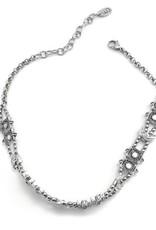 Well Dunn Well Dunn Chocker Necklace w/ Silver Moon Pendants