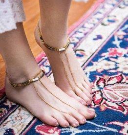 Well Dunn Well Dunn Gold Anklet w/pyrite