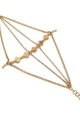 Well Dunn Well Dunn Gold Bracelet w/ Layered Chains, and Charms